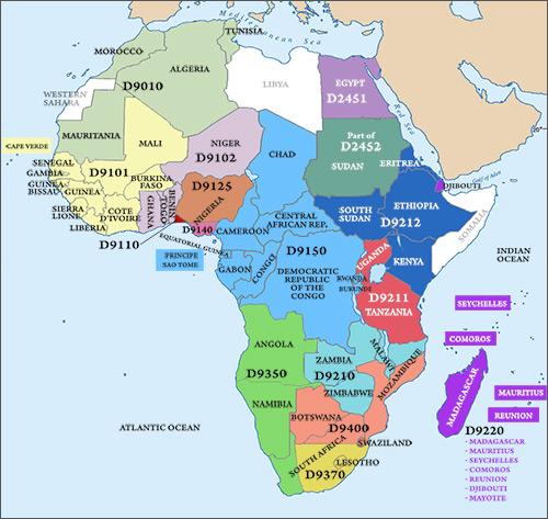 Regions Rotary In Africa - Regions of africa